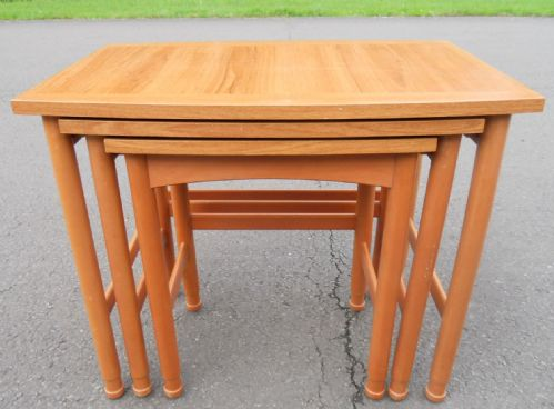 Large Nest of Retro Teak Coffee Tables